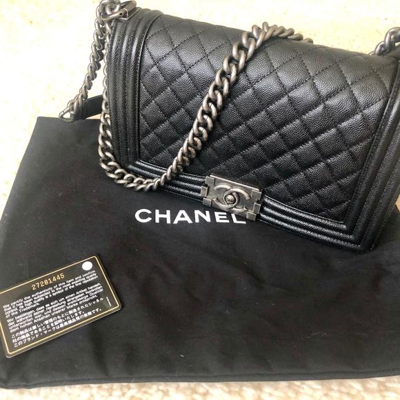 defc5b850600 CHANEL Bags | Black Boy Bag Caviar Leather | Poshmark